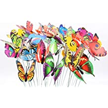 LeBeila Butterfly Garden Ornaments & Patio Décor Butterfly Party Supplies Butterfly Decorations for Outdoor Garden & Flo Butterfly Crafts 24 Pcs Set (24)