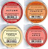 Bath and Body Works 4 Pack Pumpkin Fragrances Scentportable Fragrance Refill. 0.2 oz