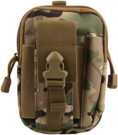 Tactical Military Molle Pouch Belt Waist Bag Fanny Phone Pack Pocket Camo