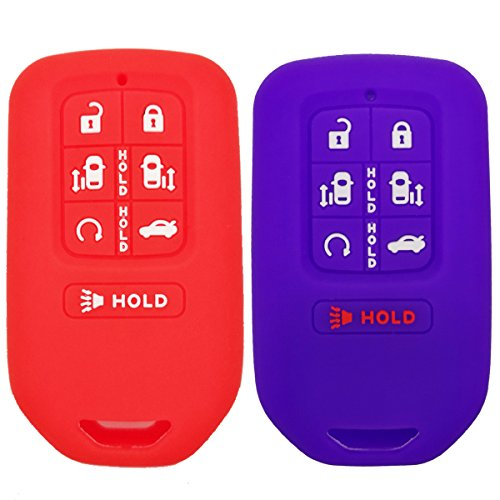 2Pcs Coolbestda Rubber Smart 7 Buttons Key Fob Remote Cover Protector Keyless Entry Holder for 2018 Honda Odyssey elite ex by Coolbestda (Image #4)