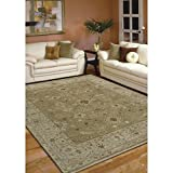 Magi Hand-knotted Faith Brown/ Beige New Zealand Wool Rug (8' x 10')