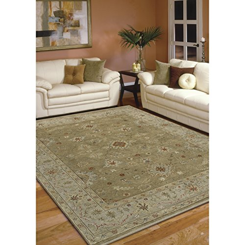 Magi Hand-knotted Faith Brown/ Beige New Zealand Wool Rug (9' x 12') by Magi