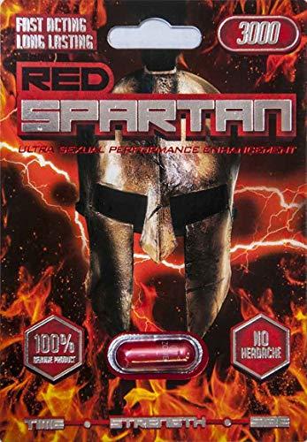 Red Spartan 3000 -12 pill Male Enhancement Sex Pill - All Natural Performance