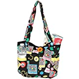 Fashionable Quilted Bingo Bag w/ One Large and Three Small Interior Pockets