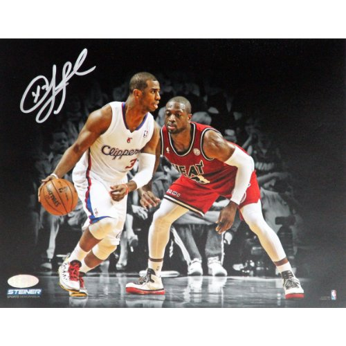 NBA Los Angeles Clippers Chris Paul vs Dwayne Wade Signed Photo, 8 x 10-Feet by Steiner Sports