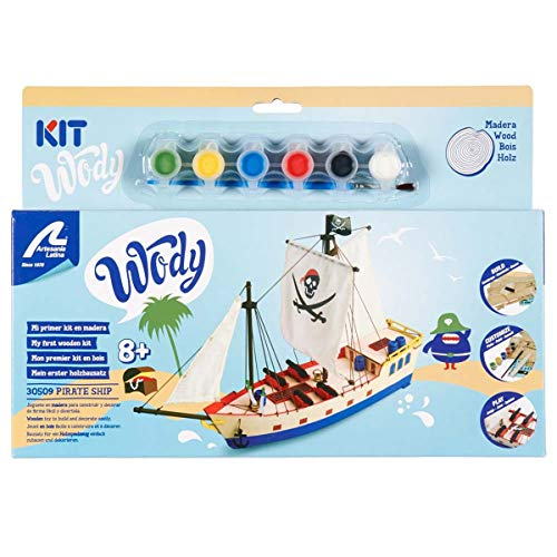 Artesania Latina Junior Wody Wood Model Kit - Pirate Ship ()