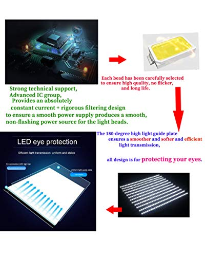 Diamond Painting A5 LED Light Pad Board Tablet Portable Dimmable Brightness, LED Artcraft Tracing Light Pad Light Box for Artists Student Drawing, Must Have for Paint with Diamonds by Imentha (Image #4)