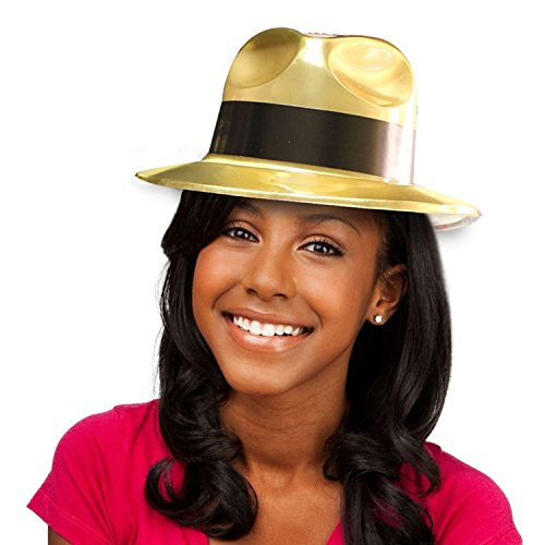 Gold Gangster Fedora Hats - 12 ()