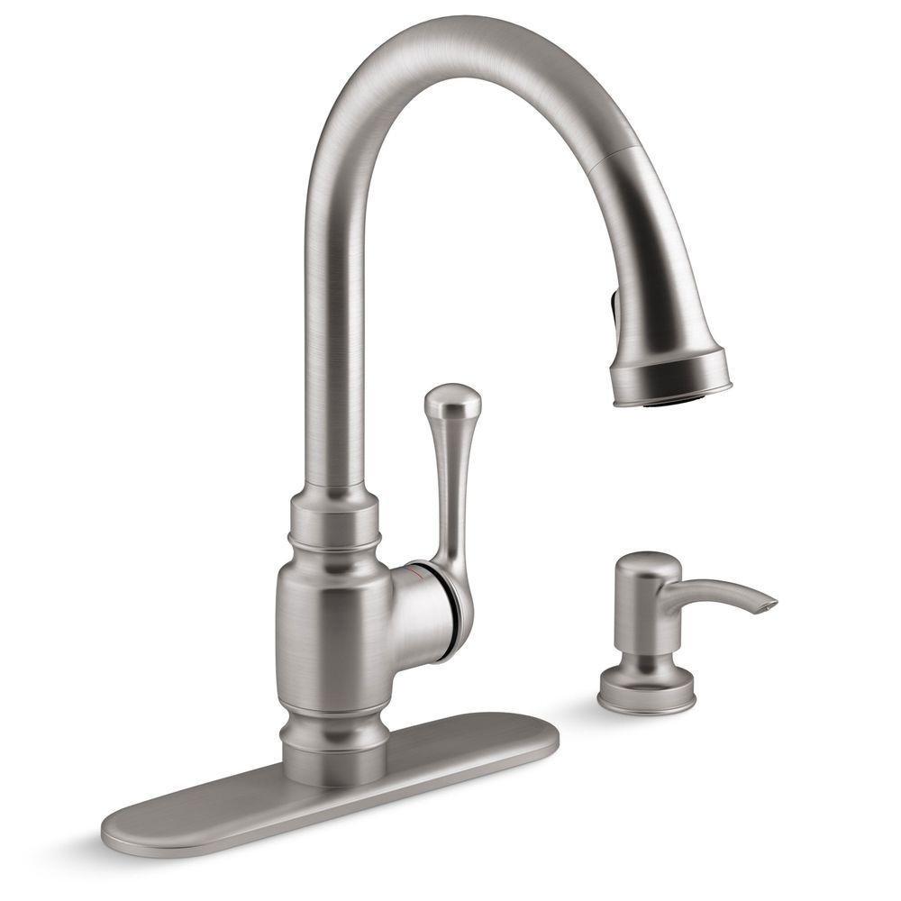 Kohler Carmichael Kitchen Faucet Stainless Steel - - Amazon.com