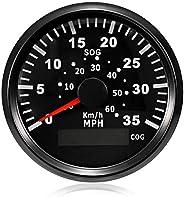 ELING GPS Speedometer Speedo Gauge 0-35MPH for Boat Yacht Vessel 3-3/8'' (85mm) 9-32V (LED Shows Cours