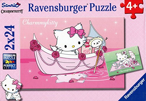 Ravensburger-Puzzle-Charmmy-Kitty-walking-2-x-24