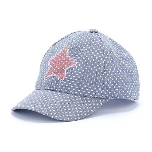 Peppercorn Kids Girls Vintage Colors Star Patch Baseball Cap - Blue - M (2-6Y)
