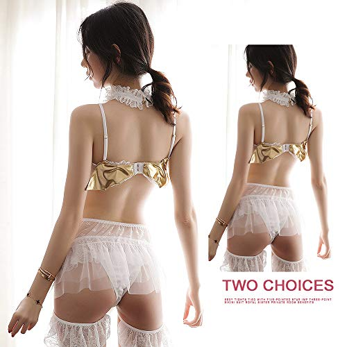 1be728006ae8 YOMORIO Sexy Bandage Bow Lingerie Set for Women Lolita Anime Devil Cosplay  Costume Lace Maid Outfit
