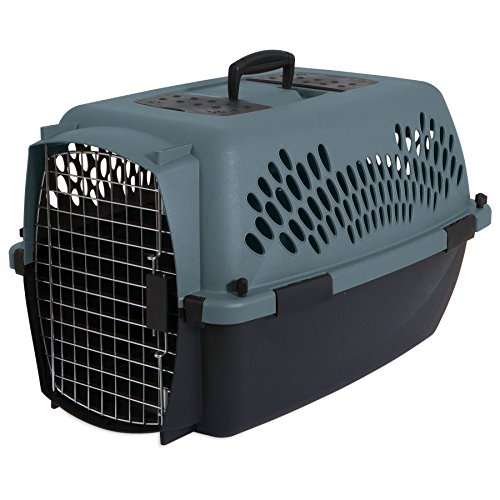Petmate Pet Porter Fashion Kennel, For Pets 15 to 20 Pounds, Storm Gray/ Black