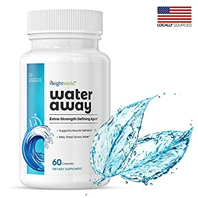 WeightWorld Water Away - Extra Strength Natural Water Pills - Juniper Berries & Dandelion Root Capsules - Water Retention Weight Loss Pills - Vegan-Friendly - 60 Capsules - by WeightWorld