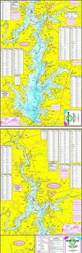 Topographical Fishing Map of Lake Falcon Texas - With GPS Hotspots by Hook N Line