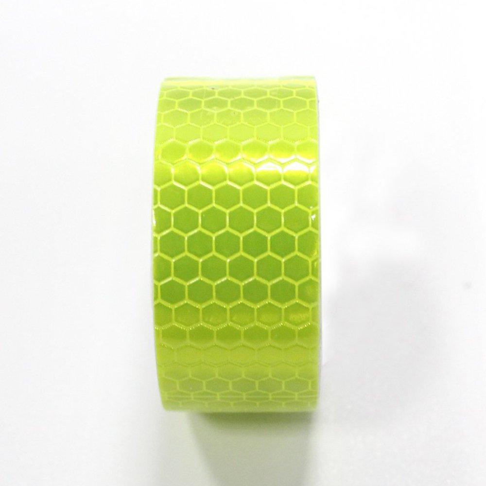 Maiqiken Ruban Adh/ésif R/éfl/échissant Vert Fluorescent Haute Intensit/é 25mm x 2.5m Bande de S/écurit/é