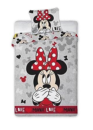 oreiller 70 x 90 Parure de lit Disney Minnie Mouse Deluxe   Taie d'oreiller : 70 x  oreiller 70 x 90