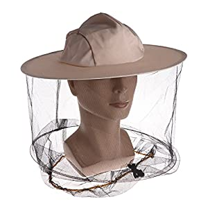 DeemoShop Professional Beekeeping Hat Beekeeper Cowboy Hat Anti Mosquito  Bee Insect Veil Net Hat Full Face Neck Wrap Protector One Size e5b5ce831edb