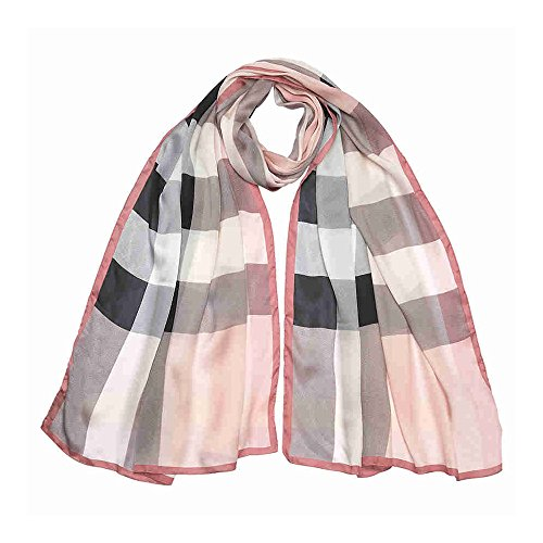 Burberry Lightweight Check Silk Scarf - Ash - Burberry Pink