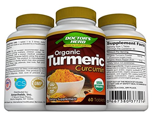 Turmeric Curcumin by Doctor's Herb, Pain Relief, Joint Supplement for Men/Women, Experts-Formulated Unique Blend; Organic Turmeric+Cinnamon+Extracts, 60 Days Supply, Non-GMO, Naturally Gluten Free by Doctor's Herb