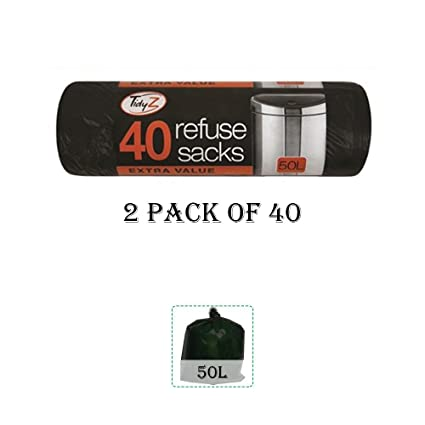 Schone Homes (UK) Heavy Duty Bolsas de Basura Bolsas de Basura Bolsa de Basura 40 L, 2 Unidades