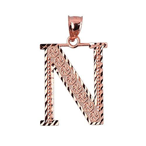 10 ct 471/1000 Initiale N Or Rose- Pendentif
