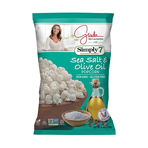 (Simply7 with Giada Popcorn, Sea Salt & Olive Oil, 12 Count)