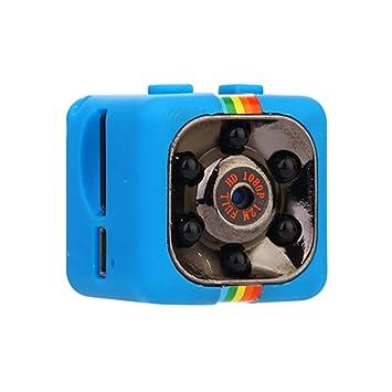 Mini sq11 HD cámara cámara IR cámara 1080P HD Visión nocturna mini cámara, azul: Amazon.es: Instrumentos musicales