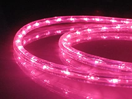 Amazon 10ft rope lights pink led rope light kit 10led 10ft rope lights pink led rope light kit 10quotled spacing christmas aloadofball Image collections