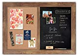 Handcrafted Combo Board with Barnyard Frame / Magnetic Chalkboard + Cork Board