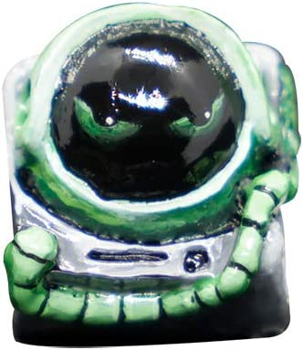 Astronaut Anti-Fading Keycap Hand Made Resin Keycap Suitable for MX Switch,Green SSSLG Key Cap