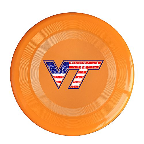 AOLM Virginia VT Tech Outdoor Game Frisbee Sport Disc Orange (Barbie Games Psp)