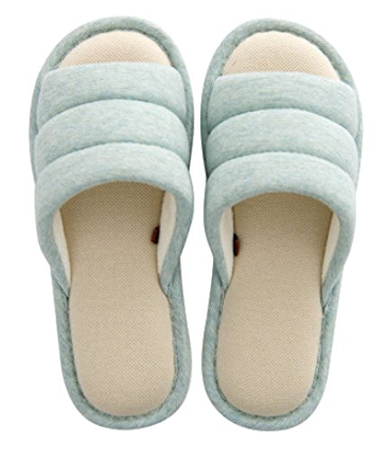 Cattior Women Comfy Open Toe House Slippers Ladies Slippers Green OfG4w