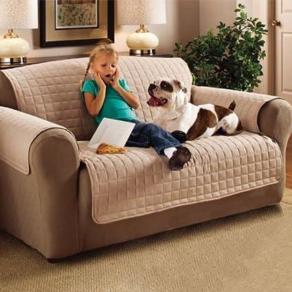 Emma Barclay Funda Protectora para sofá Acolchada y Resistente al Agua, Color Beige