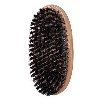 Soft Palm Brush Reinforced Boar Bristles Light Wood Handle
