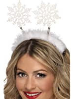 Christmas Glitter Snowflake Head Boppers - one size fits most
