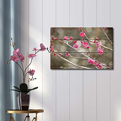 Bright Pink Blossoms on Branch Bokeh Lighting Rustic Floral Arrangements Pastels Colorful Beautiful
