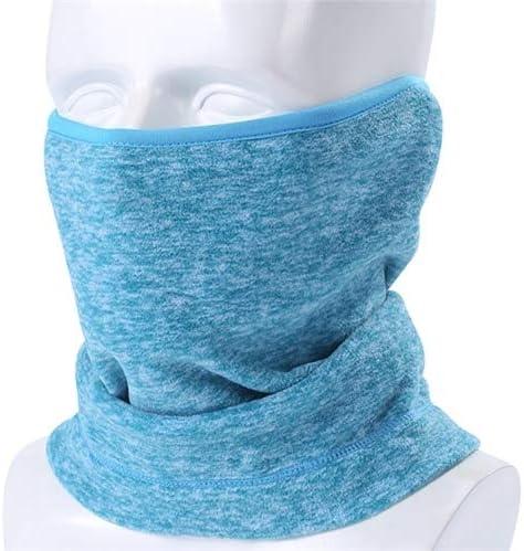 sky blue fleece polyester nordic gear neck warmer