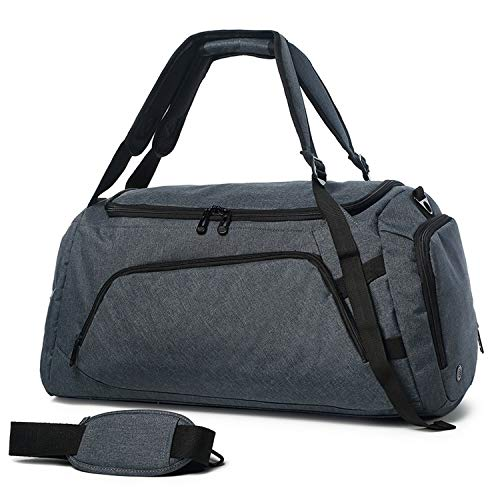 Large Capacity Travel Bags Men Backpack Hand Luggage Bag With Shoes Bag Multifunctional Polyester Travel Duffle Bags Male,Dark Grey