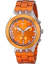 Swatch Mens SVCK4051AG Full Blooded Naranja Analog Display Analog Quartz Orange Watch