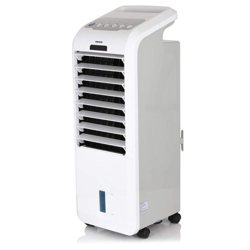 Pifco P40014 Portable 3-in-1 Air Cooler, Fan and Humidifier with 7 Hour Timer, Oscillation Function and Remote Control, White