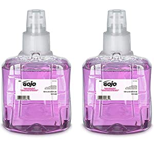 GOJO Antibacterial Foam Handwash, Plum Fragrance, 1200 mL Foam Hand Soap Refill for GOJO LTX-12 Touch-Free Dispenser…