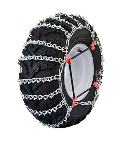 Grizzlar GTU-521 ATV 2 Link Ladder Alloy Tire Chains with Tensioners 22x11-8 22x11-9 22x11-10 (V 8 Snowblower)
