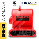 BlueDri One-29 1/3 HP 2.9 AMPS Portable Fully Stackable GFCI 4 Unit Daisy Chain Capability Air Mover Carpet Dryer with 25 Feet Cord Red