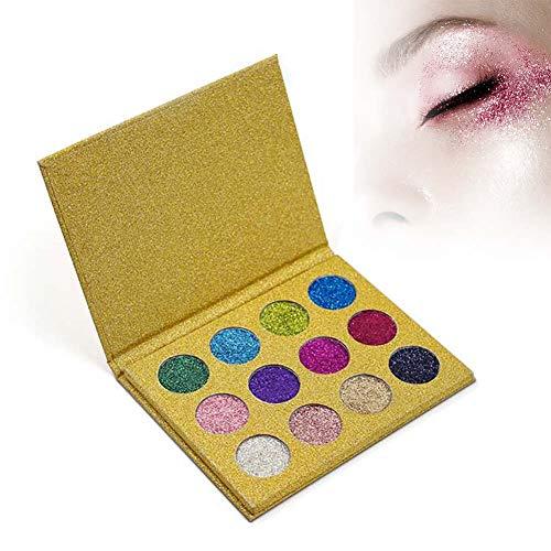 IMAGIC 2 Types 12 Colors Unique Glitter Long-lasting Eye Shadow Palette Makeup Cosmetics(#2)