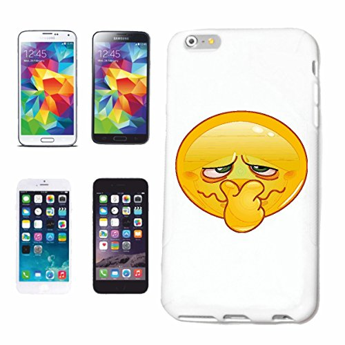"cas de téléphone iPhone 7S ""SMILEY TIENT LE NEZ POUR «sourire EMOTICON APP sa SMILEYS SMILIES ANDROID IPHONE EMOTICONS IOS"" Hard Case Cover Téléphone Covers Smart Cover pour Apple iPhone en blanc"