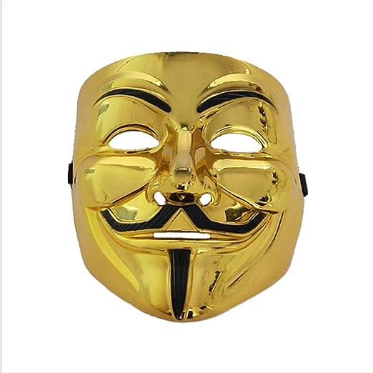 Baipin Máscara Vendetta Oro, Careta de V para Vendetta Máscara de ...