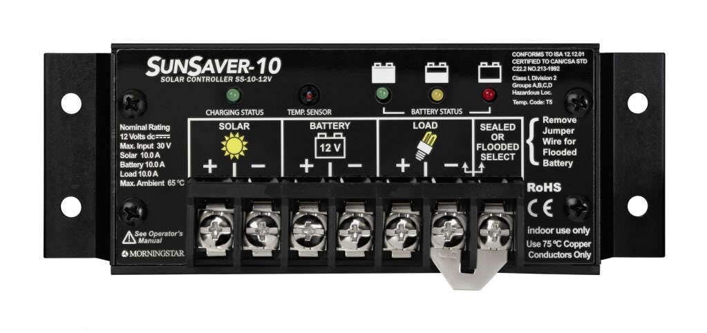 SunSaver 10 Charge Controller 12V 10A by Morning Star