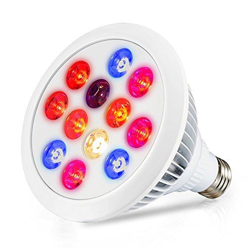 LED Grow Light Bulb, Swiftrans 12W Full Spectrum H...